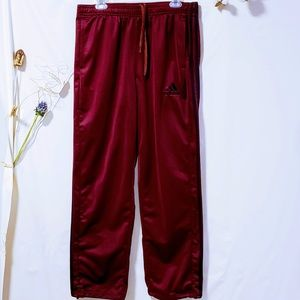 adidas Pants - Adidas burgundy track joggers, Men's Size XL🦅
